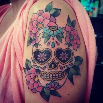 Diseños Clasicos De Tatuajes De Calaveras De Mujer