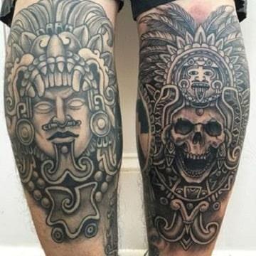 Majestuosas Obras De Arte Y Tatuajes Tribales Aztecas