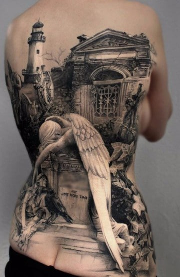 Melancolicos Diseños De Tatuajes De Angeles Caidos