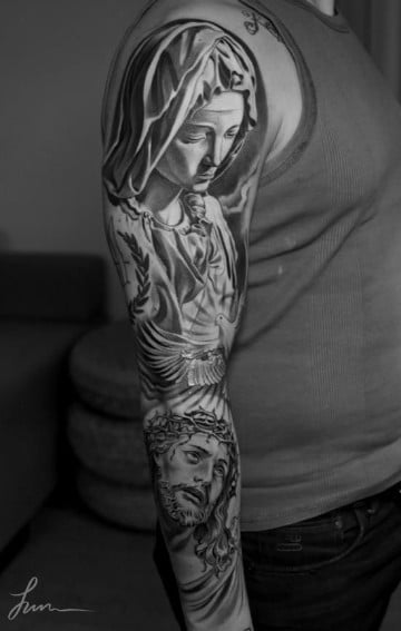Realistas Diseños De Tatuajes De Imagenes Religiosas