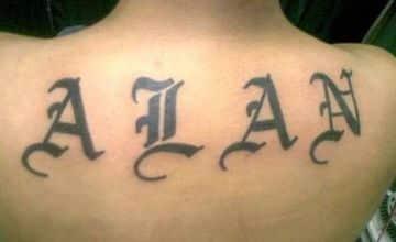 Elegantes Y únicos Tatuajes De Letras Goticas