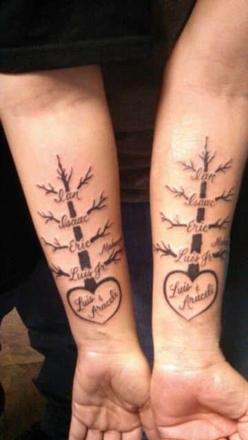 Diseños Unicos De Tatuajes Para Padres Y Madres