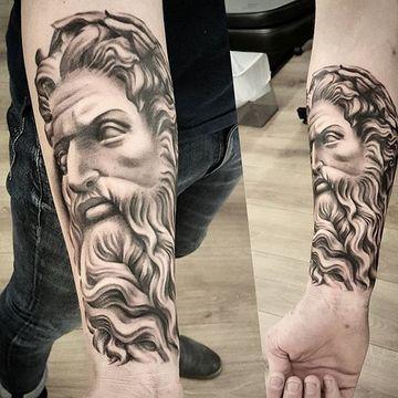 Texturas Grandiosas En Tatuajes De Dioses Del Olimpo