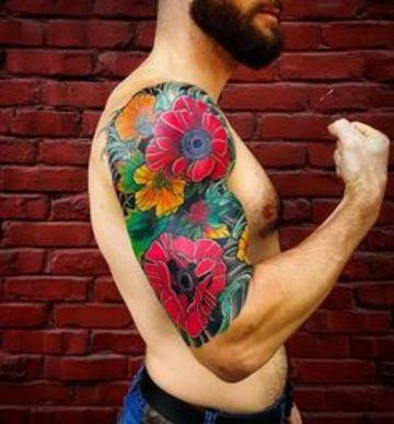 Universales Obras Y Tatuajes De Flores Para Hombres