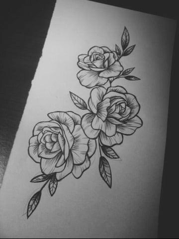 Ejemplos De Diseños Y Bocetos De Rosas Para Tatuar