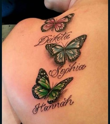 Originalidad En Tatuajes De Mariposas Con Nombres