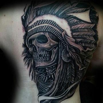 Perfectos Diseños De Tatuajes De Calaveras Con Penacho
