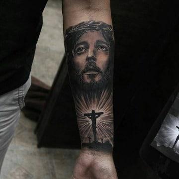 Tatuajes Jesucristo Antebrazo