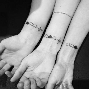Tatuajes Familiares Pequeños De 2 A Cuatro Integrantes Catalogo De