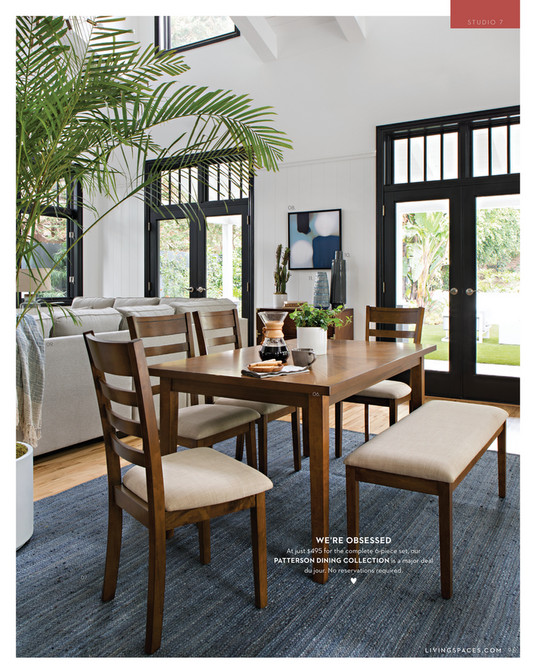 6 piece living room set how shall i decorate my spaces fall 2017 patterson dining