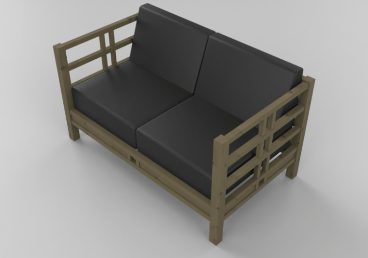 chairs and sofas 3d solid wood sofa