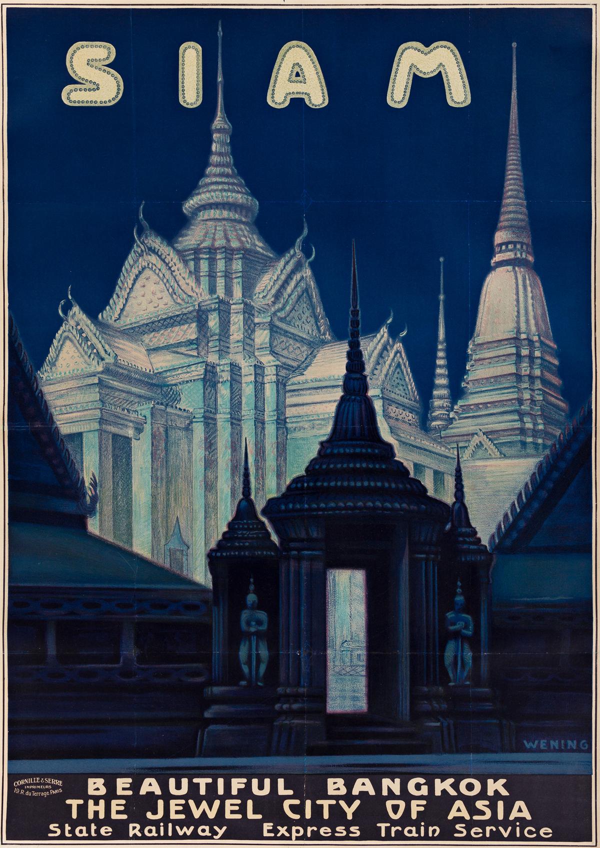 Michael Rudolf Wening 1893 1970 Siam Beautiful Bangkok