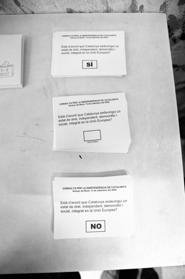 Arenys' voting slips