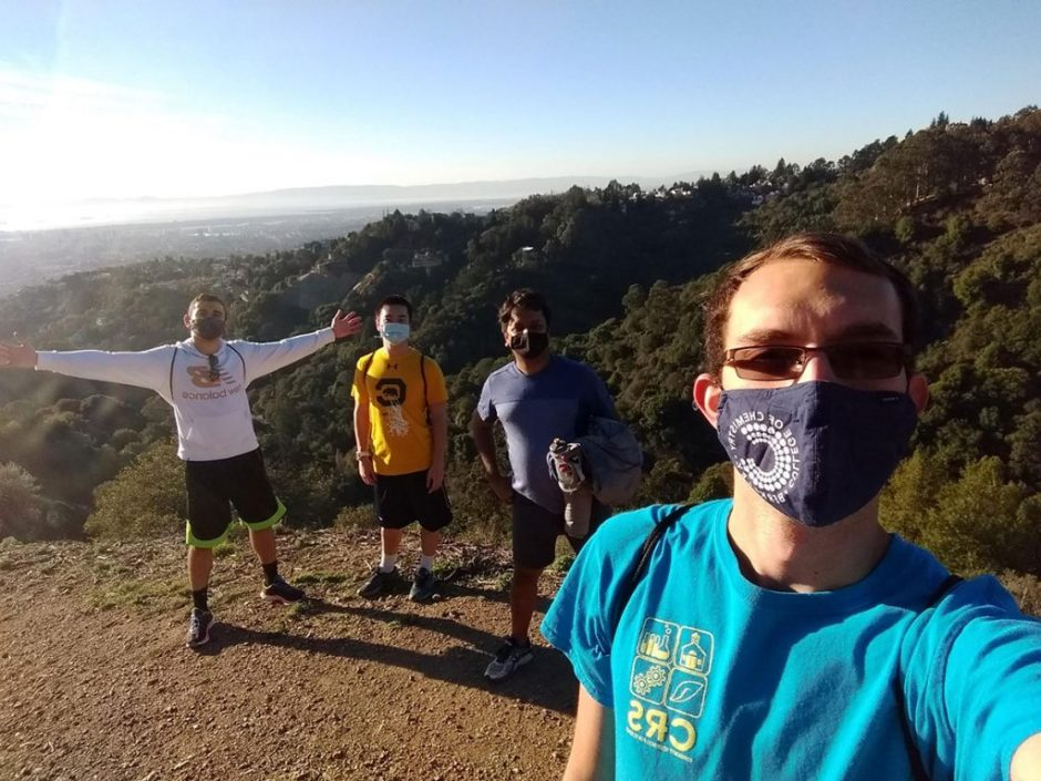 Prof. Shekhar and members of his lab in the Berkeley Hills.