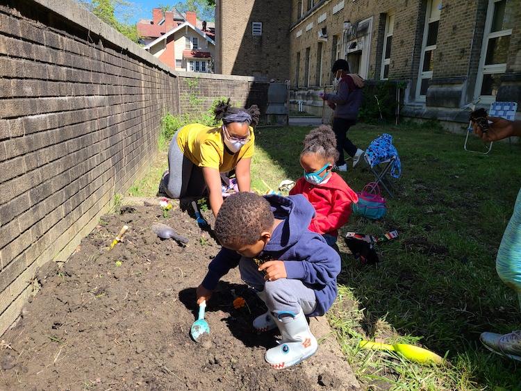 Catalyst scholars planting garden