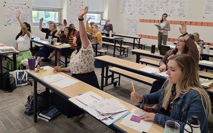 Teachers participate in 4 weeks of Teacher Training Camp at Catalyst