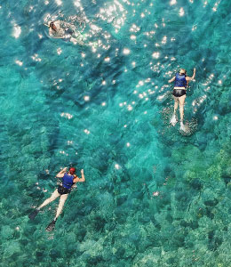 famille et snorkeling