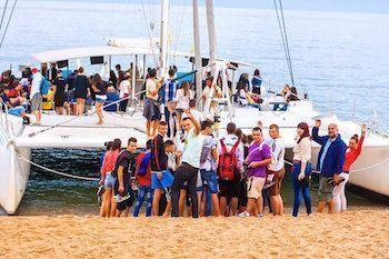 Catamaran Tossa de Mar bachelor parties on boat