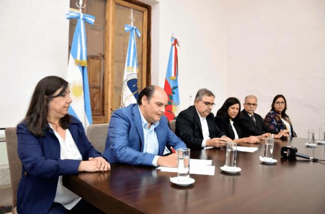Cecilia Guerrero, Gustavo Saadi, Raul Jalil, Ministros de la Corte de Justicia