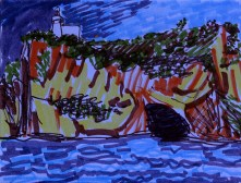Weekly Sketch – Bay Of Naples – 20/12/2012