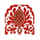 Alhambra III Linocut & Ink Hand Colouring