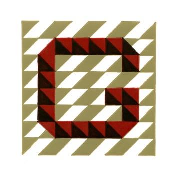 G Letter Reduction Linocut © Catherine Cronin