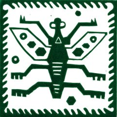 Peru Bug Linocut