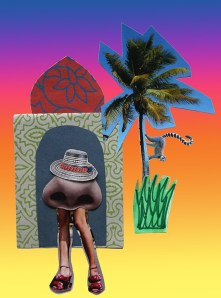 Seeing the Sights, collage © Catherine Cronin