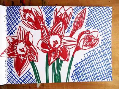 Daffodils, marker pen © Catherine Cronin
