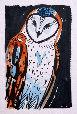 Barn Owl - watercolour 2 © Catherine Cronin