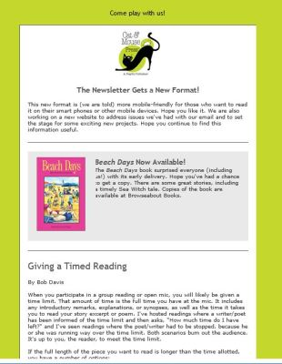 Cat & Mouse Press e-newsletter