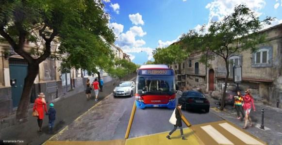 Bus rapid transit via Plebiscito Catania
