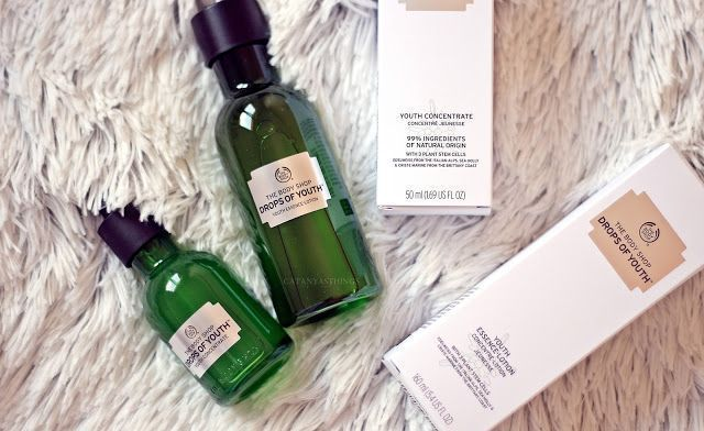 the body shop drops of youth youth concentrate essence lotion review