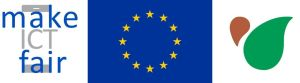 Make ICT Fair logo. EU Flag. Catapa Logo.