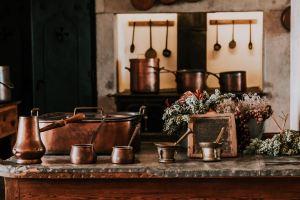 Kupfer Artikel in Küche