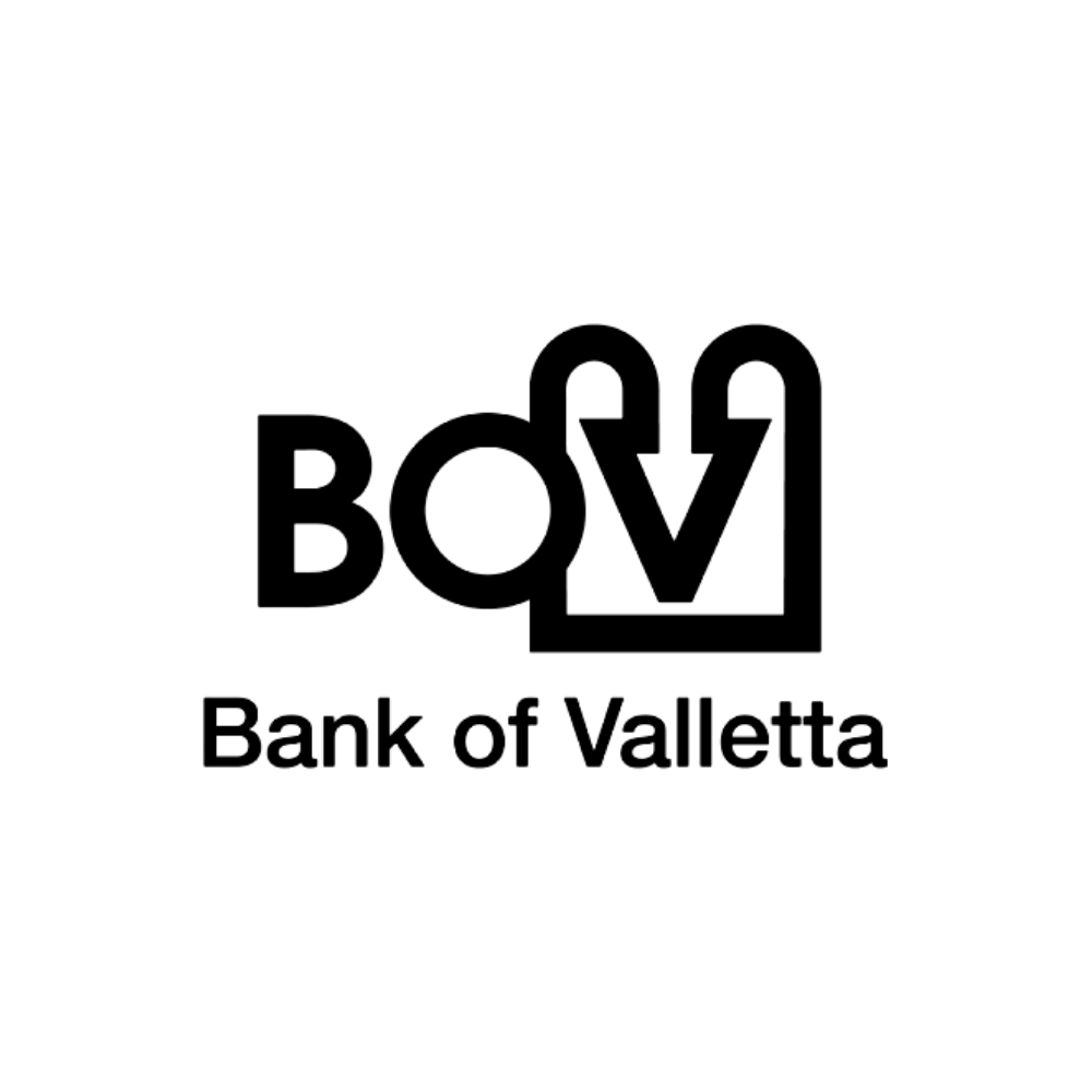 Bank of Valetta logo black and white transparent png