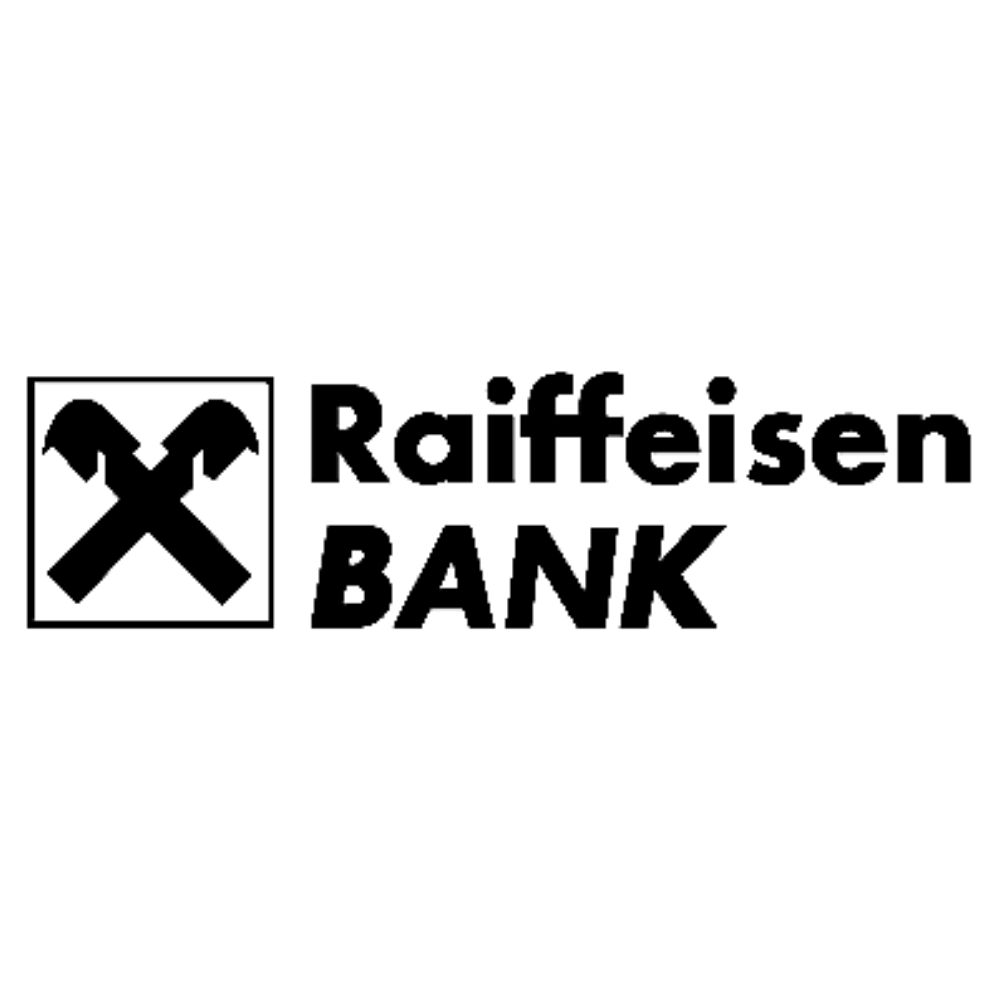 Raiffeisen bank logo black and white transparent png