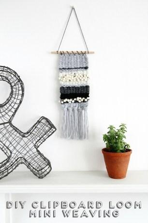 diy-clipboard-loom-mini-weaving