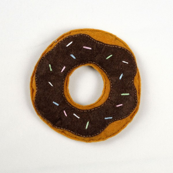 Cat Toy Brown Donut