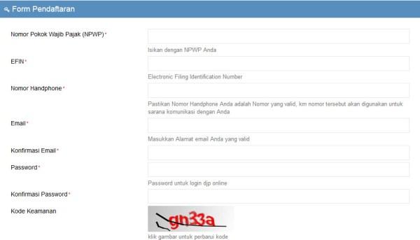 daftar e-filing