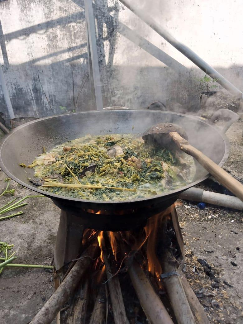 memasak sayur bunga pepaya tidak pahit