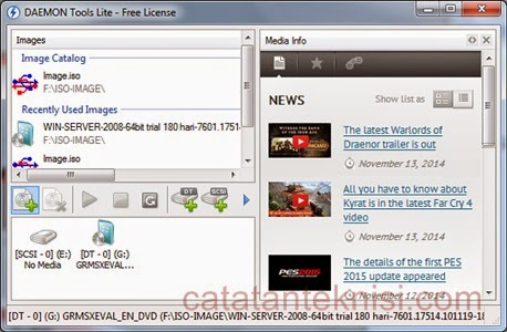 Virtual Drive dengan Daemon Tools Lite