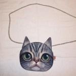 Sam the Cat Chain Bag