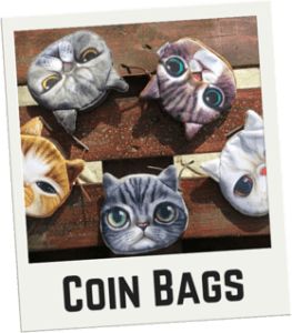 CatBagz.com Cat Faced Coin Bags