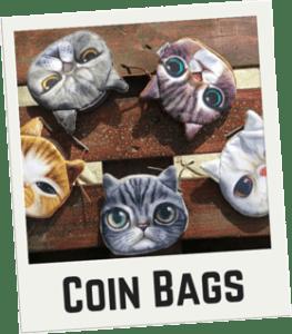 CatBagz.com Cat Faced Coin Bags