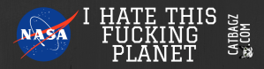 I Hate This Fucking Planet Bumper Sticker - For those who hate this fucking planet.