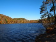 The lake at Douthat State Park