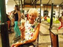 Jo enjoys a gelato