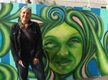 Steph and street art