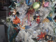 Christmas ornaments in a Sausalito shop